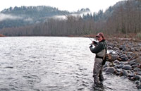 Sandy River steelhead fishing