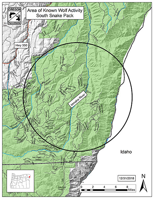 Specific Wolves And Wolf Packs In Oregon South Snake Pack - Us-map-snake-river