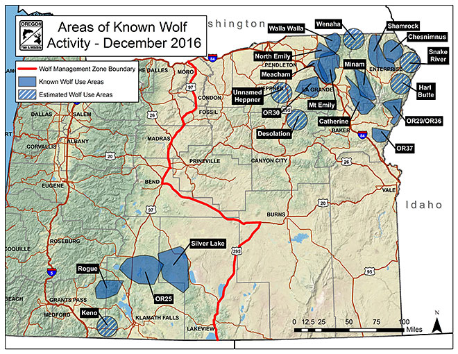 ODFW Gray Wolves - Maps of the location of wolves in the us