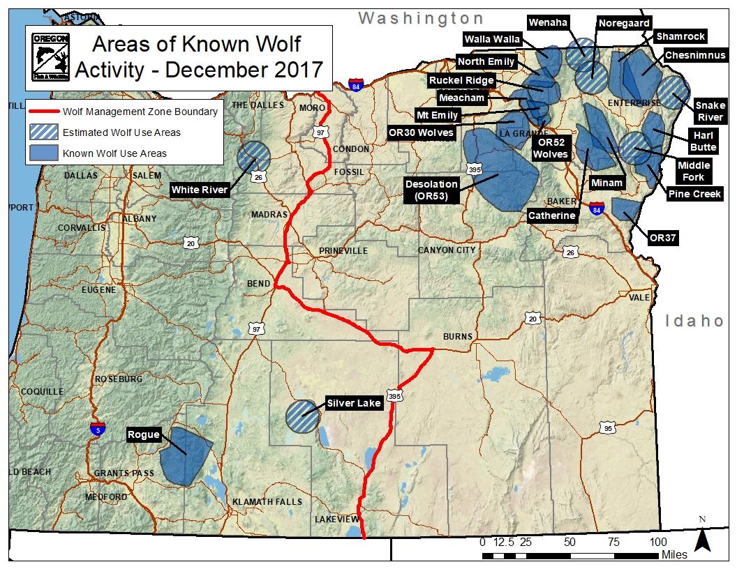 ODFW Gray Wolf Population