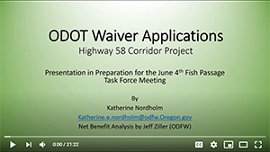 ODOT Hwy 58 Waivers Video