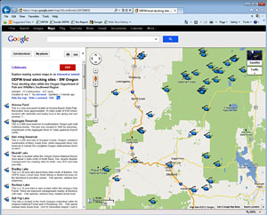 Southwest Oregon Fishing Map