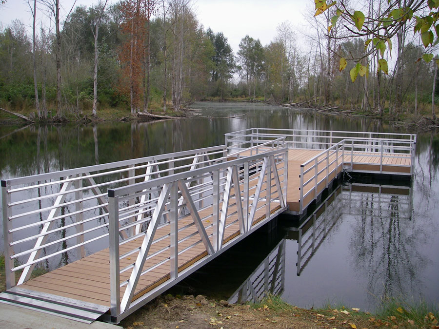 New fishing structures longer season at st louis ponds for Pond pier plans