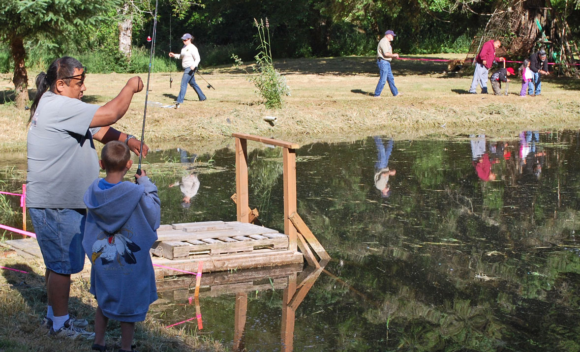 Odfw siletz tribe team up for free youth fishing event for Places to fish near me for free
