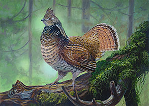 Upland Bird Stamp Art