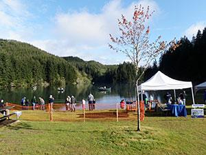 Olalla Reservoir family fishing event