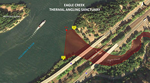Eagle Creek thermal angling sanctuary
