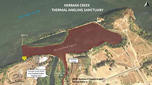 Herman Creek thermal angling sanctuary