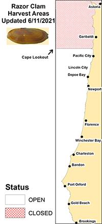 Razor clam closure map